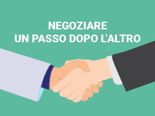 La negoziazione un passo dopo l'altro